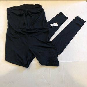 GAP body maternity black leggings